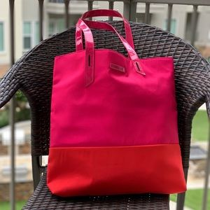 Lancome Tote Bag Hot Pink &Red